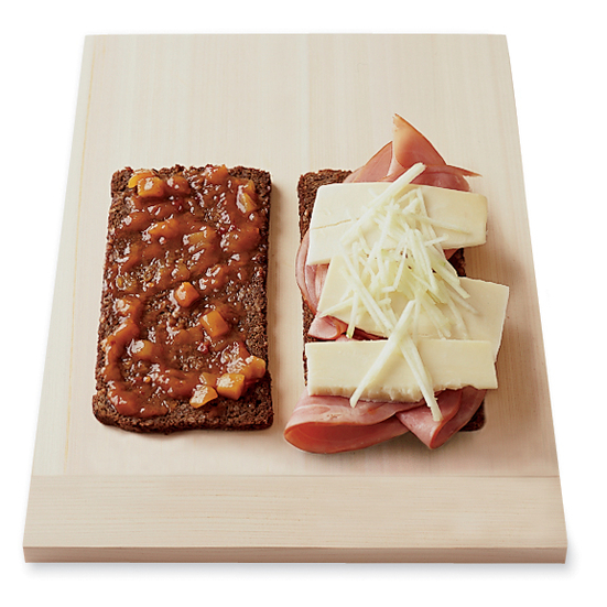 Grilled Cheddar and Ham with Apple and Chutney Sandwiches