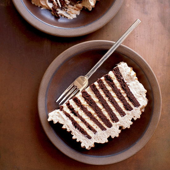 Zebra Icebox Cake