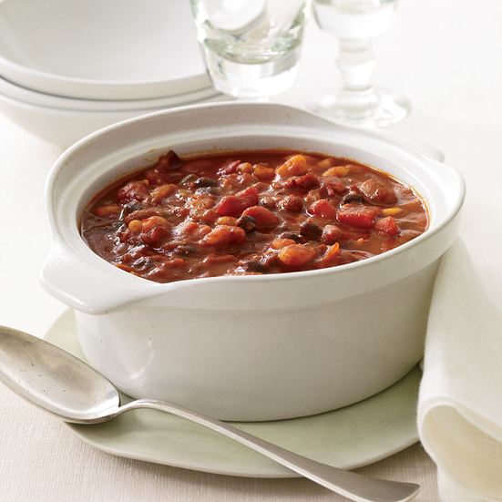 Quick Three-Bean Chili Recipe - Melissa Rubel Jacobson | Food & Wine
