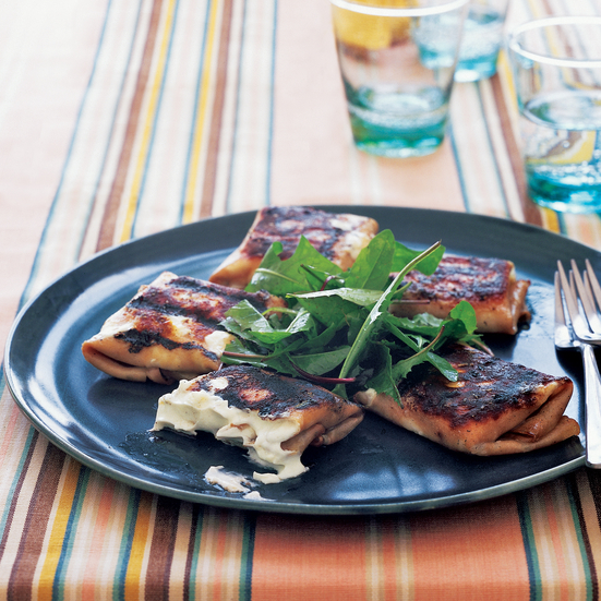 Grilled Mortadella and Robiola Packets