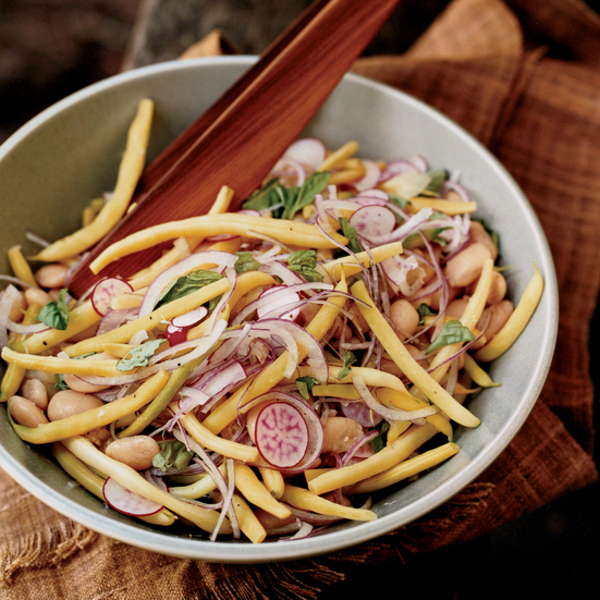 Yellow Wax Bean and Radish Salad with Cannellinis