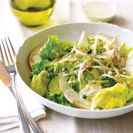 Asian Chicken Salad with Wasabi Dressing