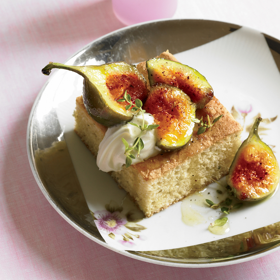 Olive Oil Thyme Cake with Figs and Black Pepper