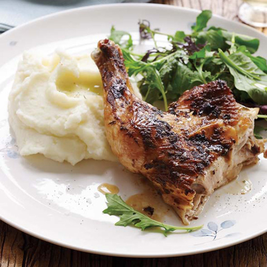 Quick-Roasted Chicken with Mustard and Garlic Recipe ...