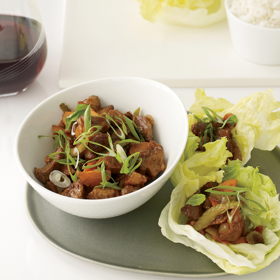 Stir-Fried Five-Spice Pork with Lettuce Cups Recipe - Melissa Rubel ...