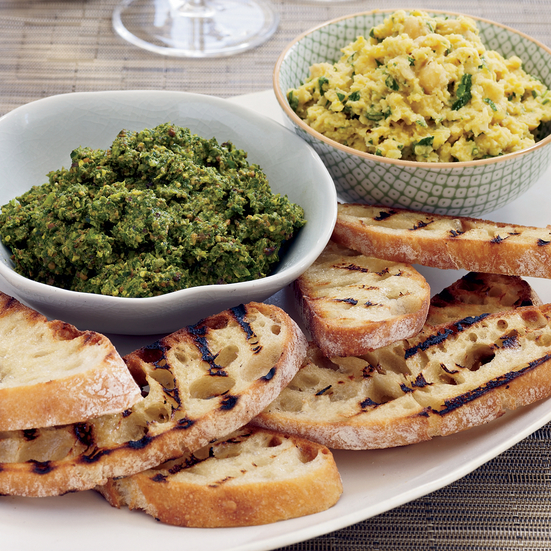 Broccoli Rabe Pesto Bruschetta Recipe - Gabe Thompson | Food & Wine