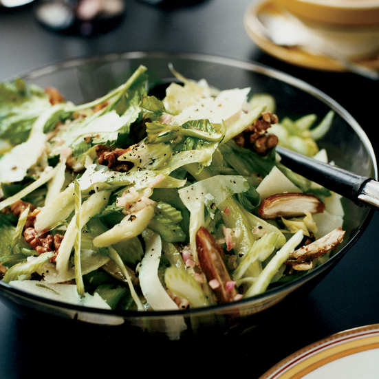 Celery Salad with Walnuts, Dates and Pecorino