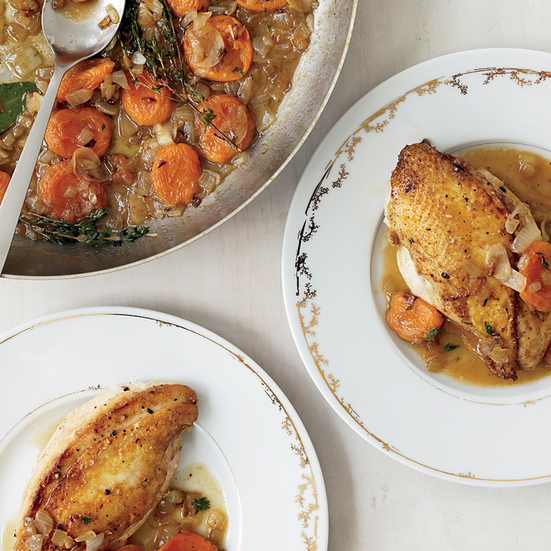 Chicken Breasts with Apricot-Onion Pan Sauce