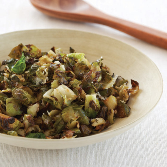 Shredded Parmesan Brussels Sprouts