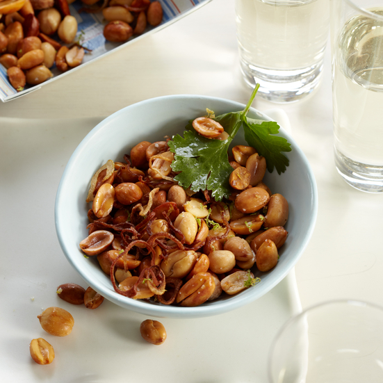Fried Peanuts with Asian Flavors