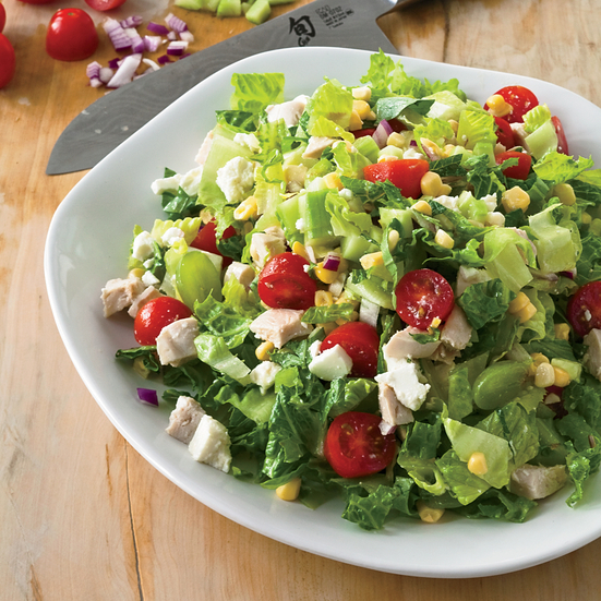 Chopped Salad with Grapes and Mint