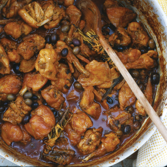 Rabbit Stew with Olives