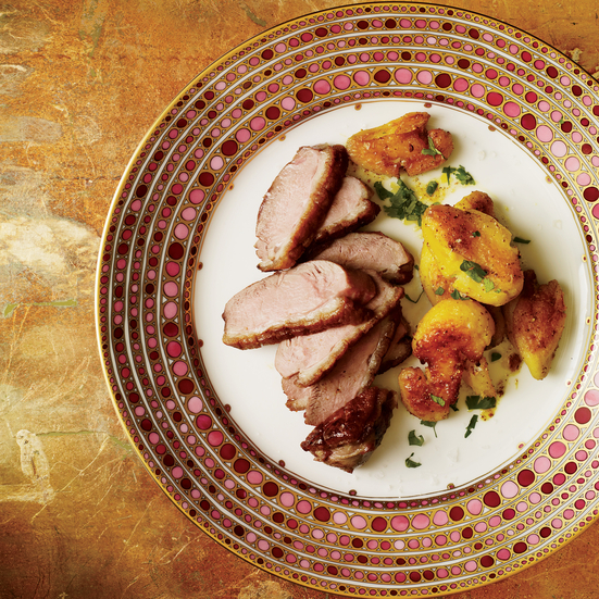 Coriander-Crusted Duck Breasts