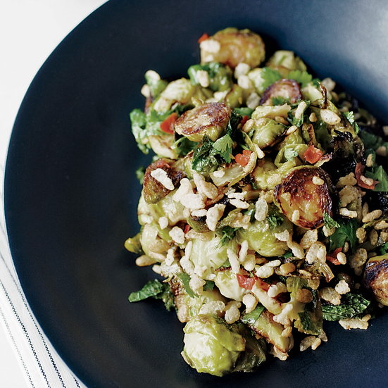 Spicy Brussel Sprouts with Mint