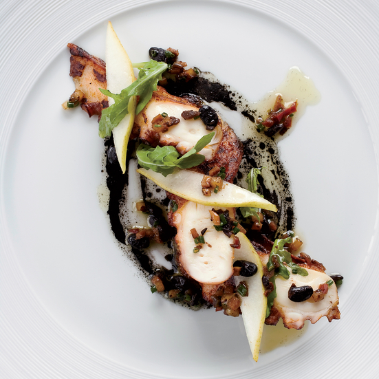 Octopus with Black Bean–Pear Sauce