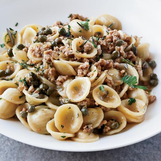 Orecchiette with Veal, Capers and White Wine