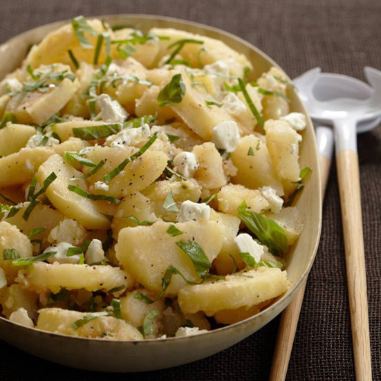 Potato Salad with Herbs and Fresh Goat Cheese