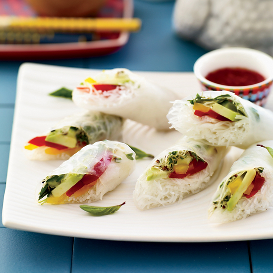 Vegetable Summer Rolls with Chile-Lime Dipping Sauce