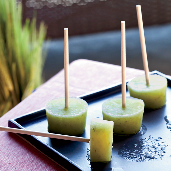 Cucumber-Lime Pops with Gin