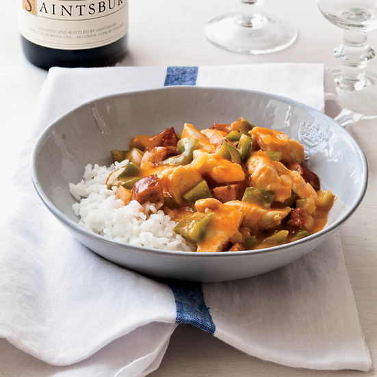 Chicken-and-Andouille Etouffee