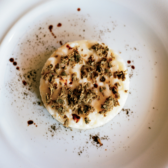 Risotto with Capers and Espresso
