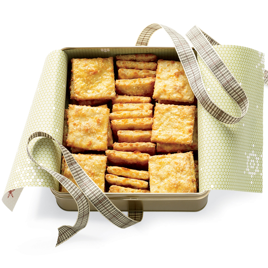 Oat-and-Cheddar Crackers