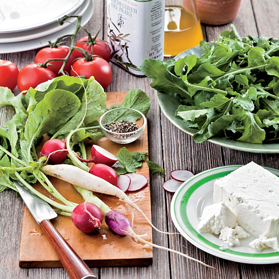 Greek-Style Tomato Salad with Mint and Feta.