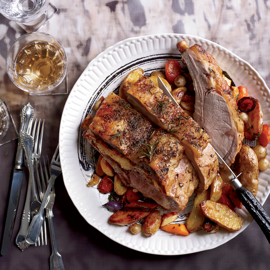 Roasted Rack Of Veal With Root Vegetables Recipe