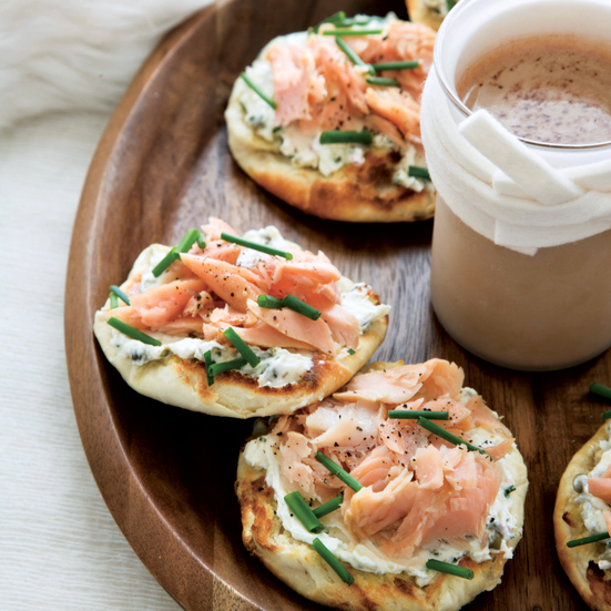 Smoked-Trout-and-Caper-Cream-Cheese Toasts. Photo © Michael Turek