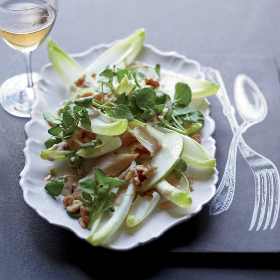 Smoked-Trout Salad with Mustard Dressing.