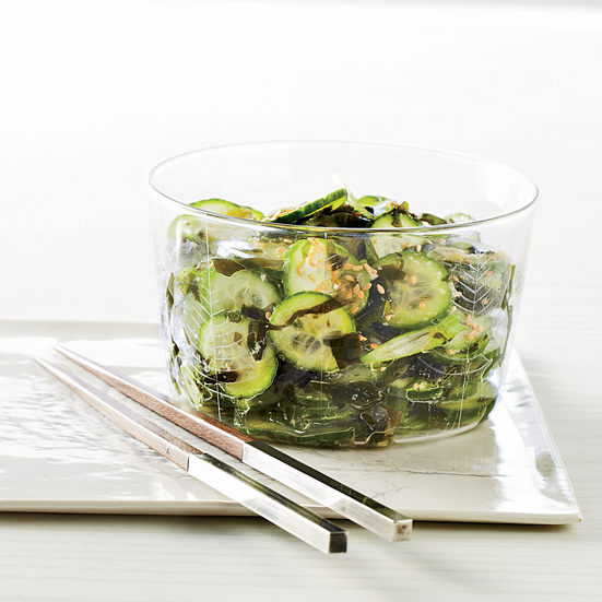Wakame-and-Cucumber Salad. Photo © Kate Mathis