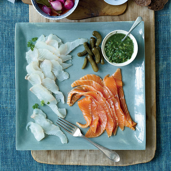 Three-Day Brined Lox with Anise-Herb Sauce. Photo © Antonis Achilleos