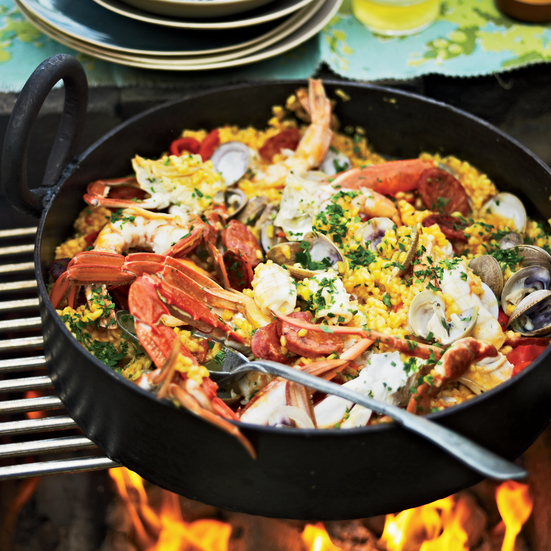 Easy Grilled Paella. Photo © Anson Smart