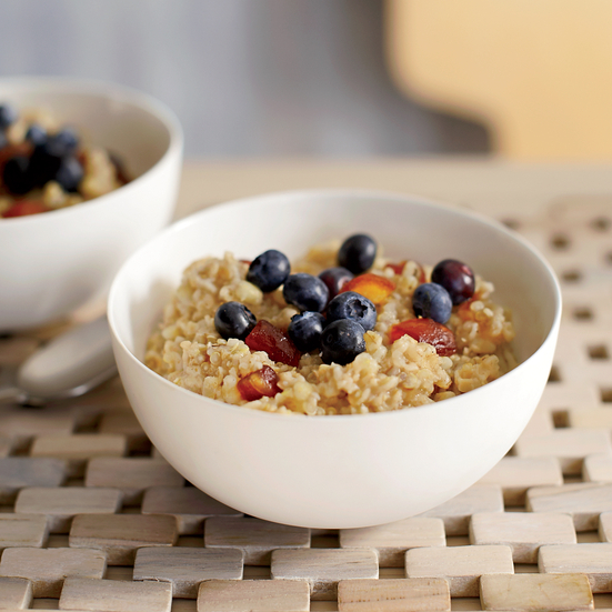 Three Grain Cereal with Dates and Cinnamon