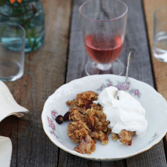 Apple Crisp with Dried Cranberries
