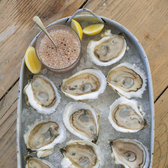 Oysters on the Half Shell with Rosé Mignonette. Photo © Michael Turek