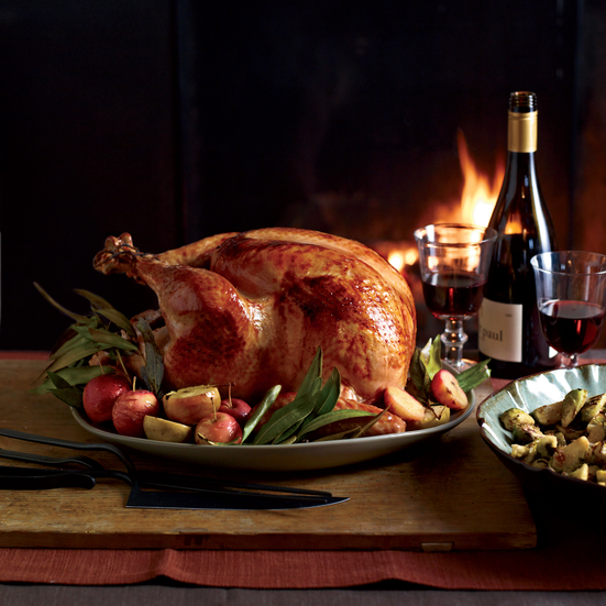 Cider-Glazed Turkey with Lager Gravy