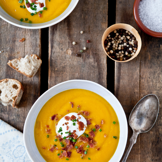 Butternut Squash and Leek Soup