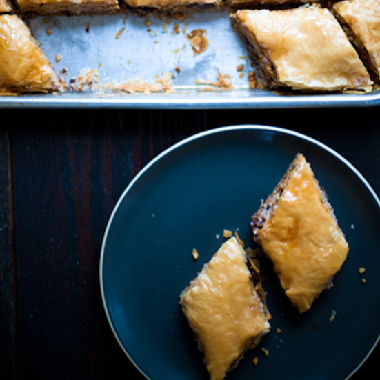 Baklava with Walnuts and Chocolate Chips