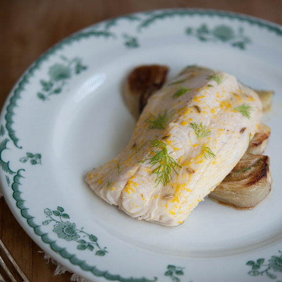 Orange and Fennel Roasted Cod