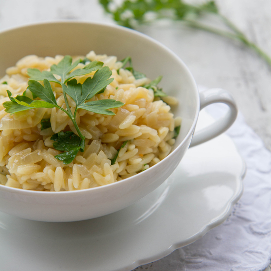 Orzo Pilaf with Parsley
