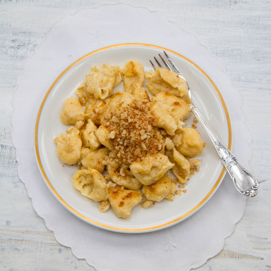 Spaetzle with Buttery Japanese Bread Crumbs