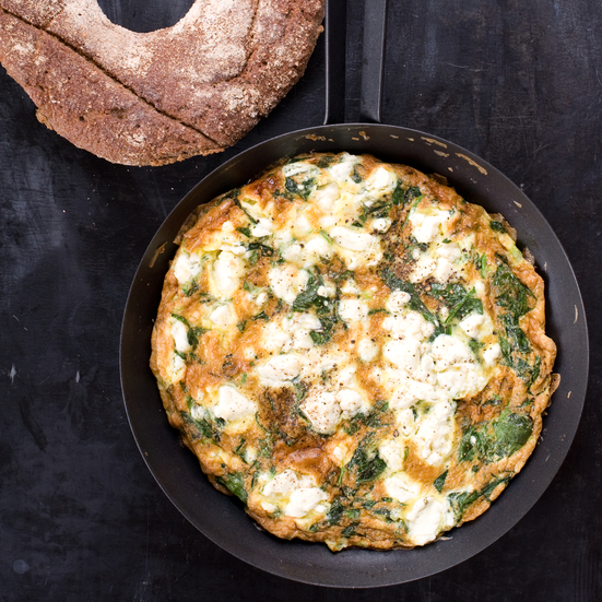 spinach feta and tarragon frittata chickpeas with eggs and mustard ...