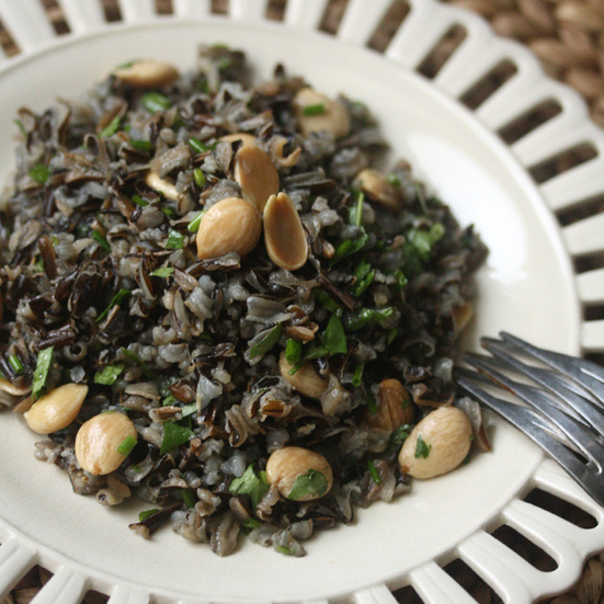 wild rice salad with marcona almonds forbidden black rice with ginger ...