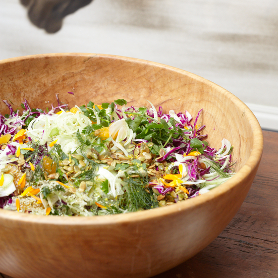 Red Cabbage Salad with Fennel Orange and Pepitas