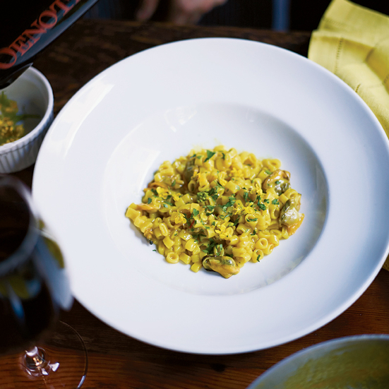 Risotto-Style Ditalini with Mussels, Clams and Saffron