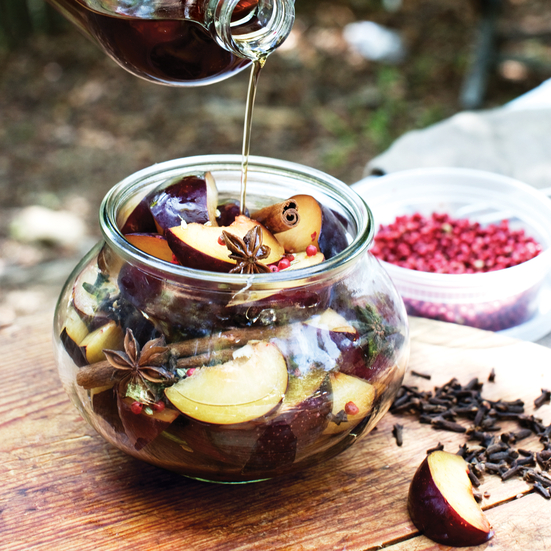 Salty-Sweet Spiced Pickled Plums Recipe