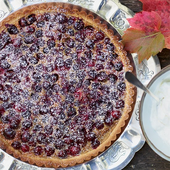 Brown Sugar-Cranberry Tart
