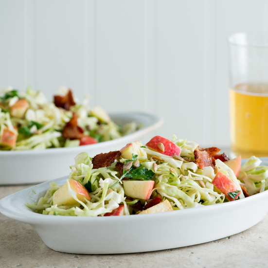 Apple, Bacon, and Cabbage Slaw