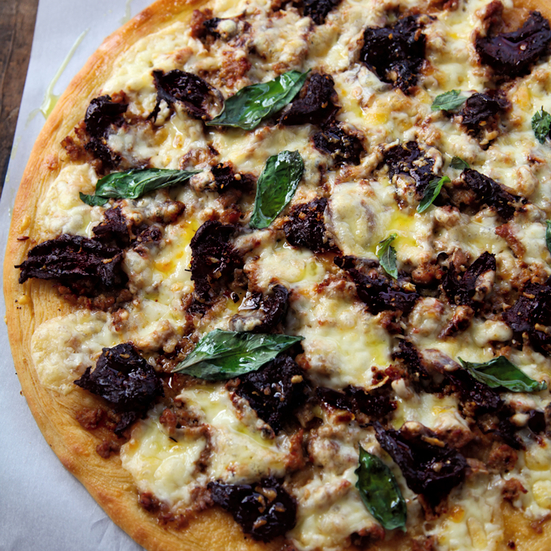 Sun-Dried-Tomato, Sausage, and Fontina Pizza